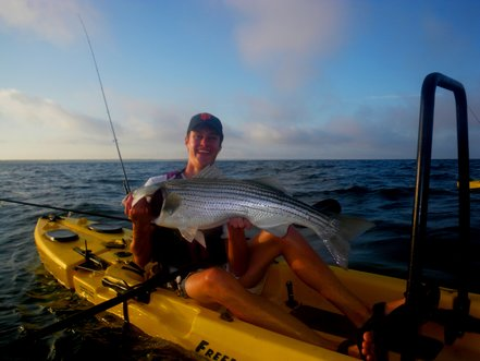Cape Cod Freeedom Hawk Kayak Fishing